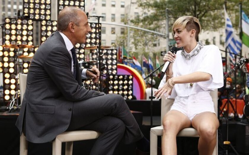 Miley Cyrus to Matt Lauer: People over 40 'don't have sex anymore'