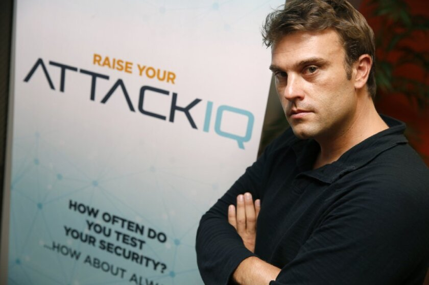 Stephan Chenette, chief technology officer and co-founder of AttackIQ. The startup announced that it has raised $17.6 million in a second round of venture capital funding.