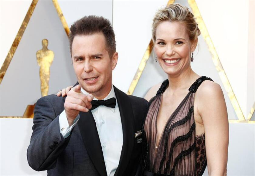 Sam Rockwell (L) and Leslie Bibb arrive for the 90th annual Academy Awards ceremony at the Dolby Theatre in Hollywood, California, USA, 04 March 2018. EFE