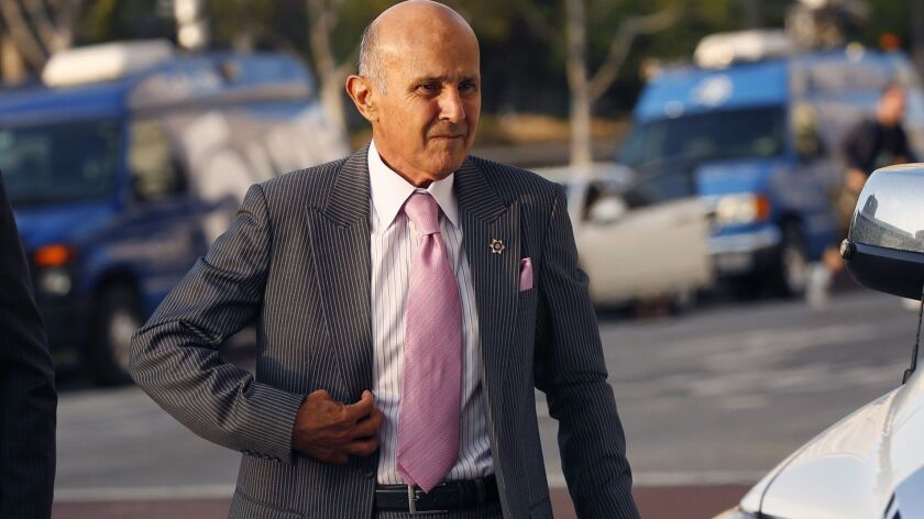 Former Los Angeles County Sheriff Lee Baca in August.