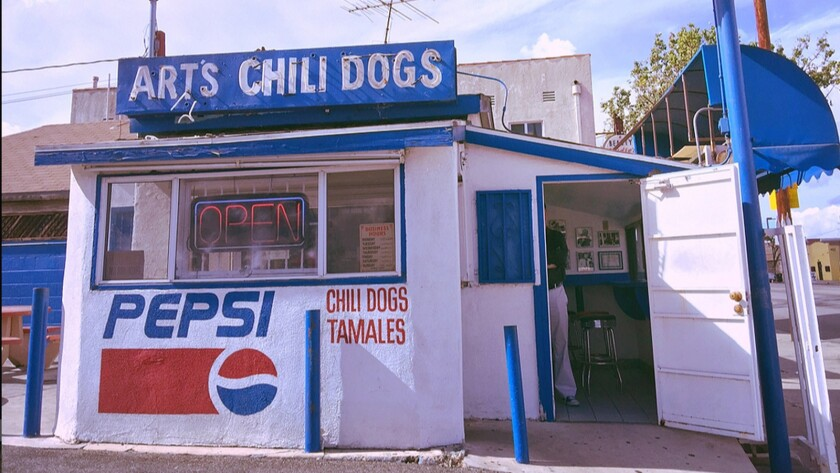 Art Elkind, the original owner of Art's Famous Chili Dogs, claimed to have invented the chili dog at his South L.A. hot dog stand. The landmark restaurant closed its doors on Sunday, March 8, 2020.