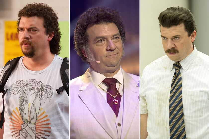 "Danny McBride's characters in ""Eastbound & Down,"" left, ""Vice Principals,"" right, and ""The Righteous Gemstones."""