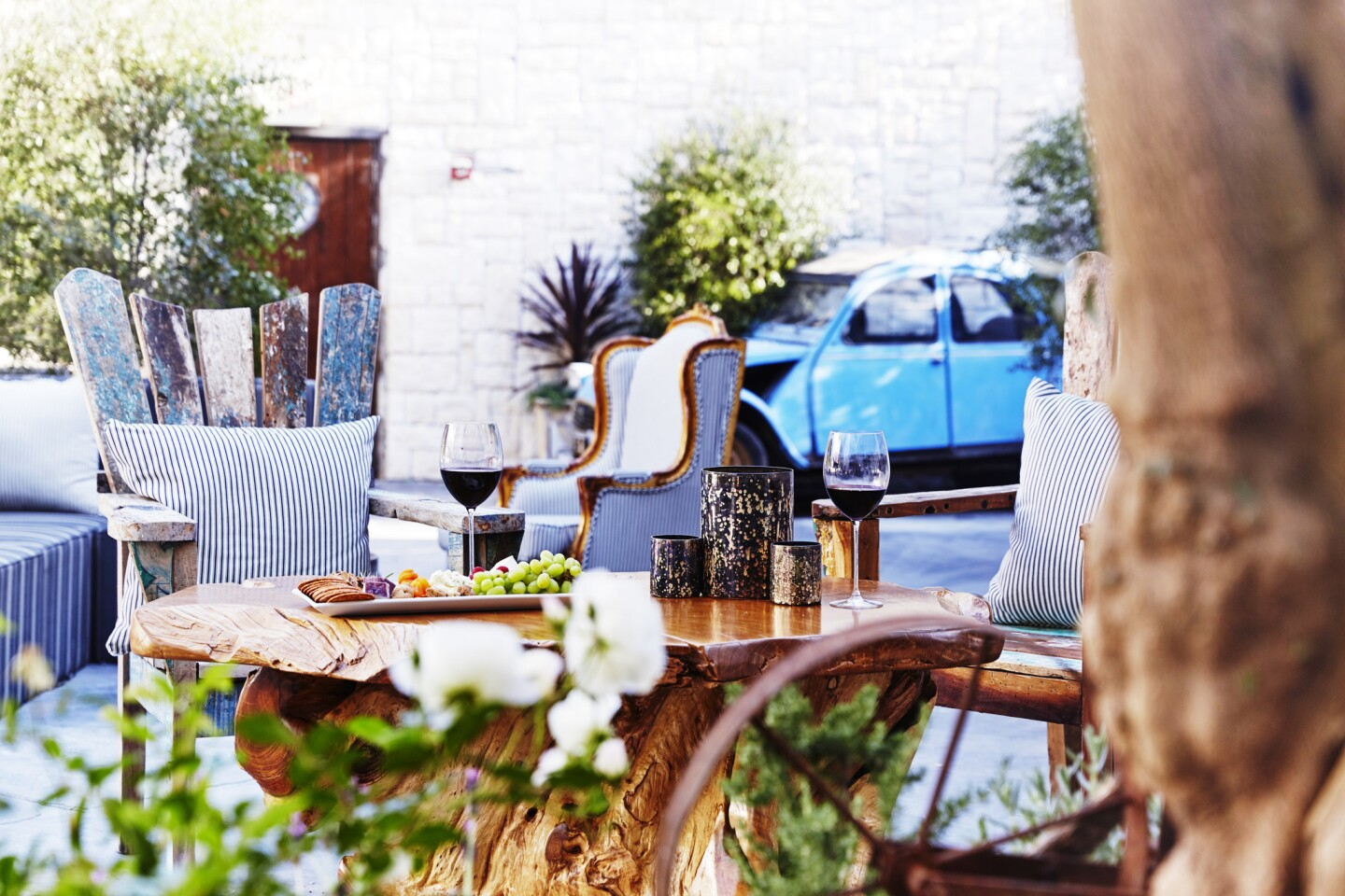The patio at Le Jardin, a new venue opening this wekeend in Hollywood.