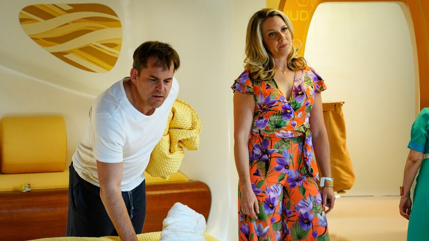 Kyle Bornheimer and Jessica St. Clair