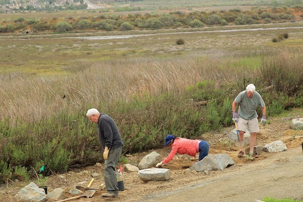 Rotarians at work on the San Dieguito River Park