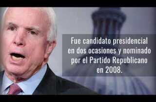 Senador John McCain vuelve al Senado para votar