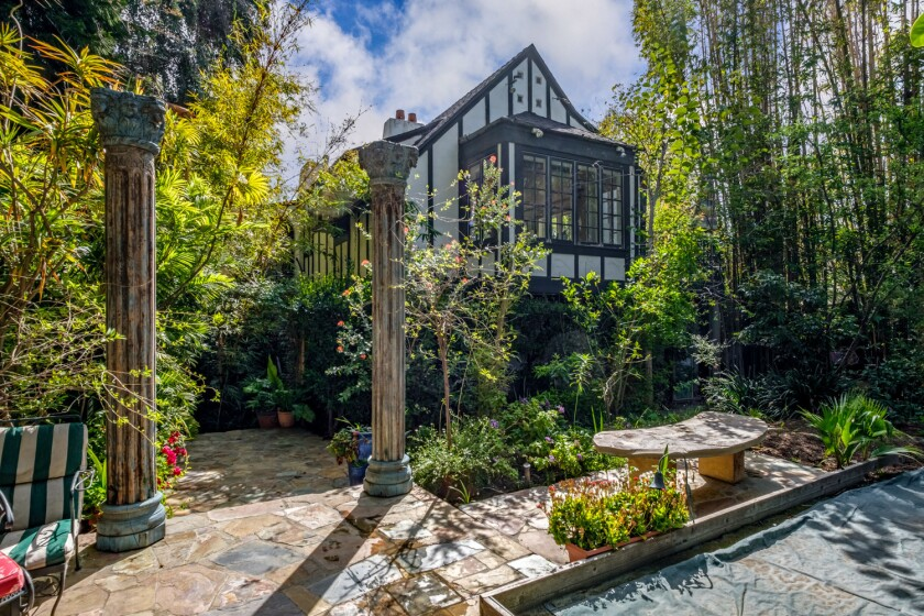 The 1926 Tudor Revival-style house, once owned by Shirley Temple's mother-in-law, sits on slightly more than a third of an acre in Beverly Hills.