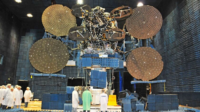 ViaSat-1 undergoing tests before its launch in the fall of 2011.
