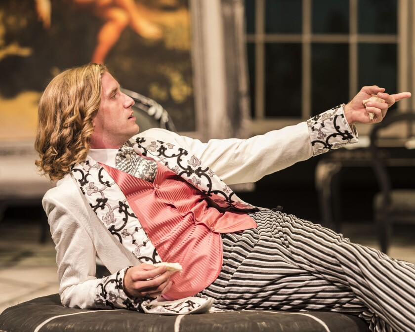 """Adam Hass Hunter plays Algernon Moncrieff in """"The Importance of Being Earnest."""""""