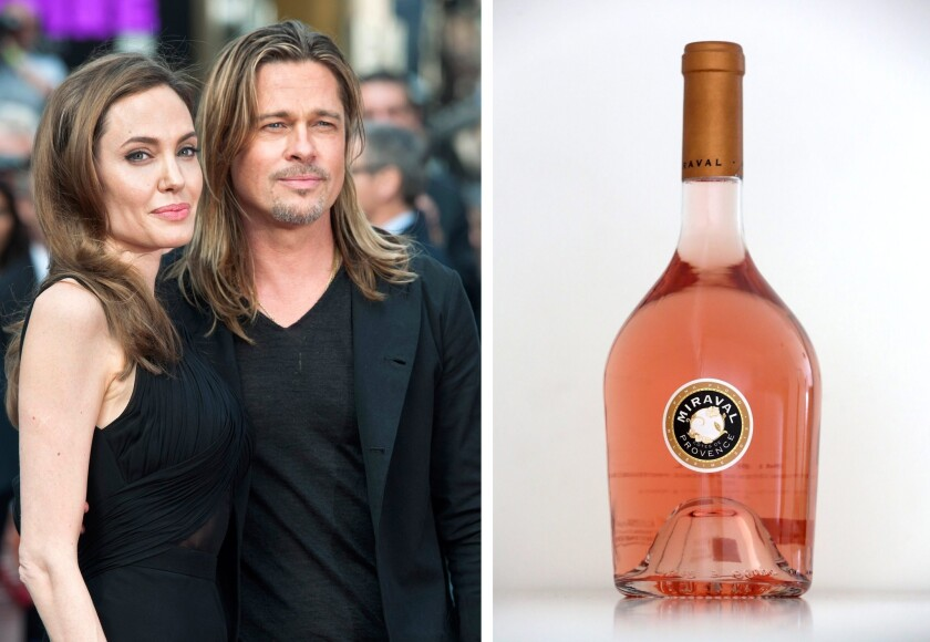 The couple's wine Jolie-Pitt Perrin Cotes de Provence Rose Miraval, was recently named the best rose in the world by Wine Spectator.