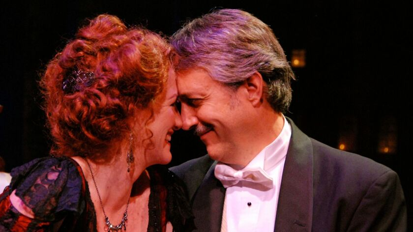 """Marci Anne Wuebben and Sean Murray in Cygnet Theatre's 2008 production of """"A Little Night Music."""""""