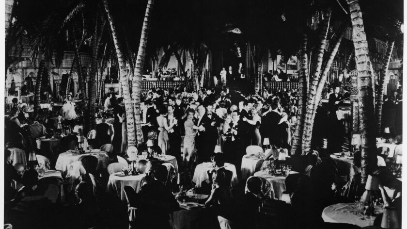 "The Cocoanut Grove at the Ambassador Hotel, circa 1930. Image appeared in book ""Imagining Los Angele"