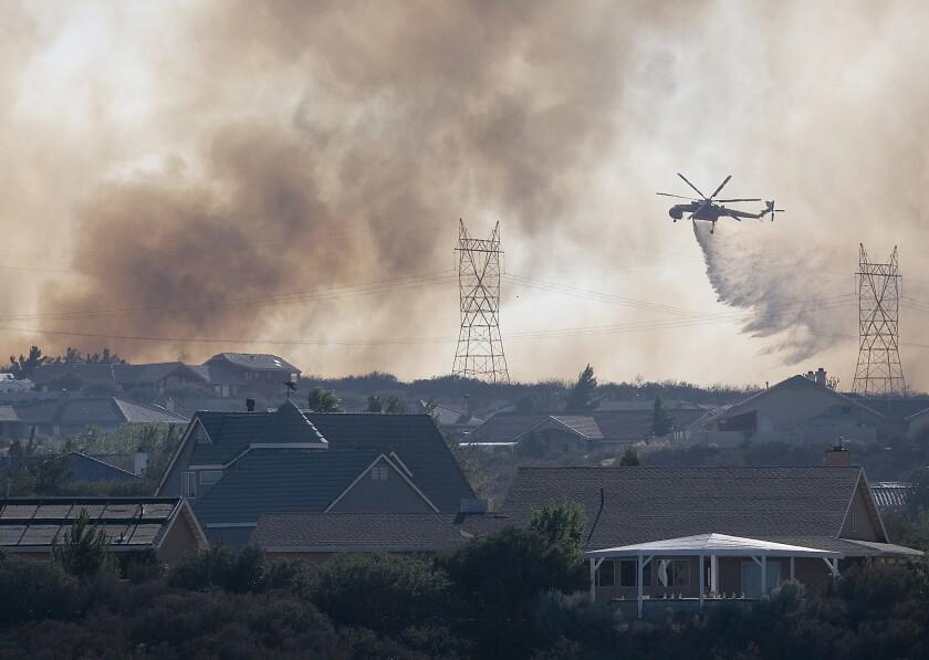 Fire near Oak Hills, Calif.