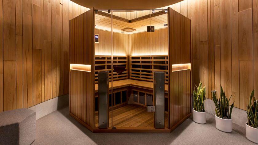 The infared sauna at Pause.