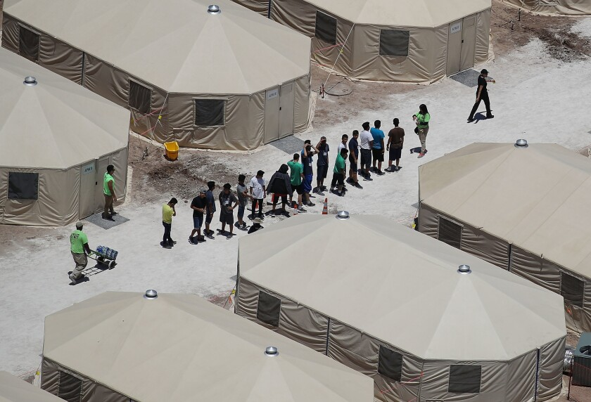 The migrant camp at the Tornillo-Guadalupe Land Port of Entry opened in June.