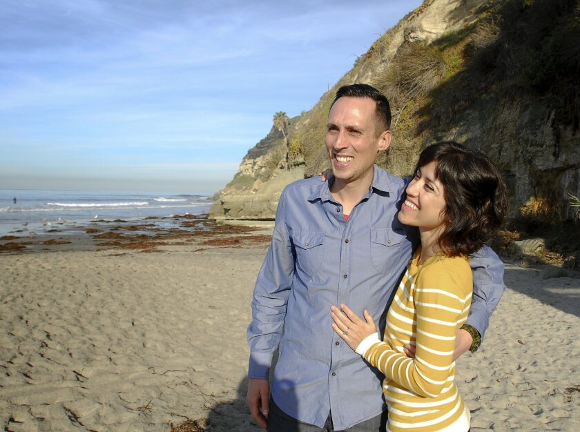 Tyler and Natasha Wagner enjoy spending time at Swami's Beach in Encinitas. Natasha has been a constant support during Tyler's battle with cancer.