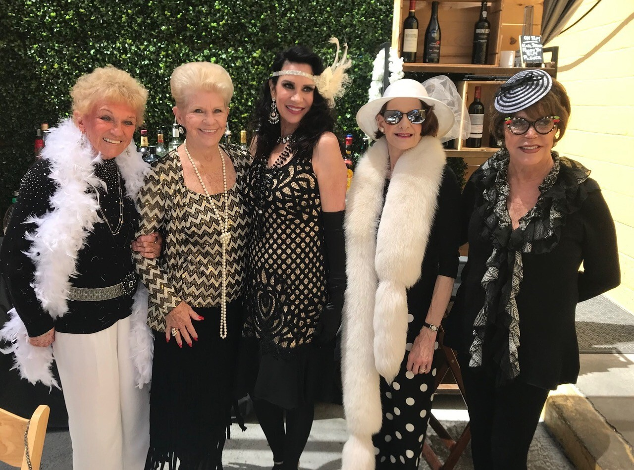 Club Altura members Shirley Harper, Linda Phillips, Lisa Marks, Lucy Wright and Linda Taylor