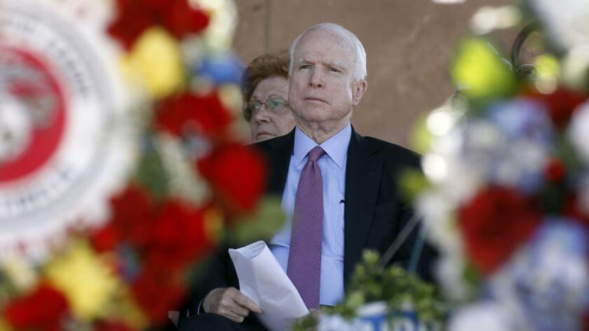 John McCain isn't a fan of Trump, but he can't be accused of participating in a partisan plot.