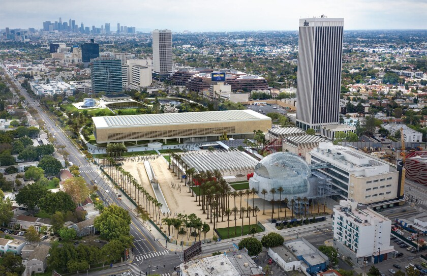 A rendering of an architectural proposal for a new LACMA by L.A. firm Paul Murdoch Architects.