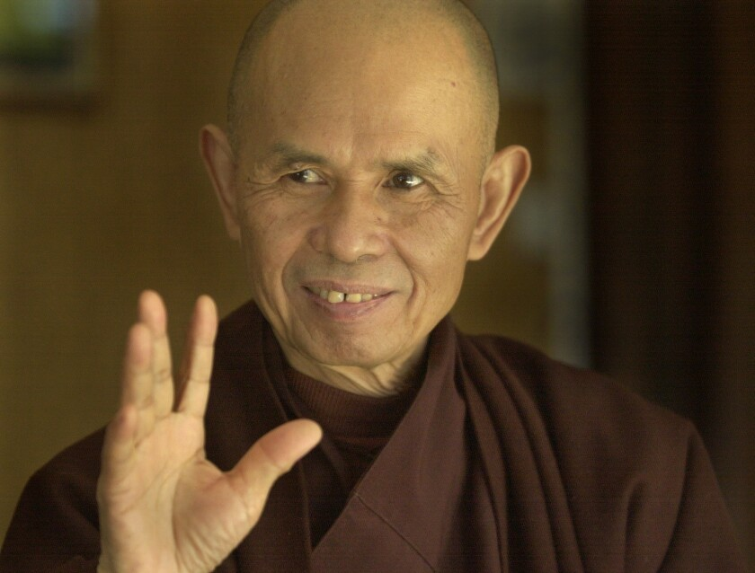 Buddhist leader Thich Nhat Hanh is the man behind Deer Park Monastery in Escondido.