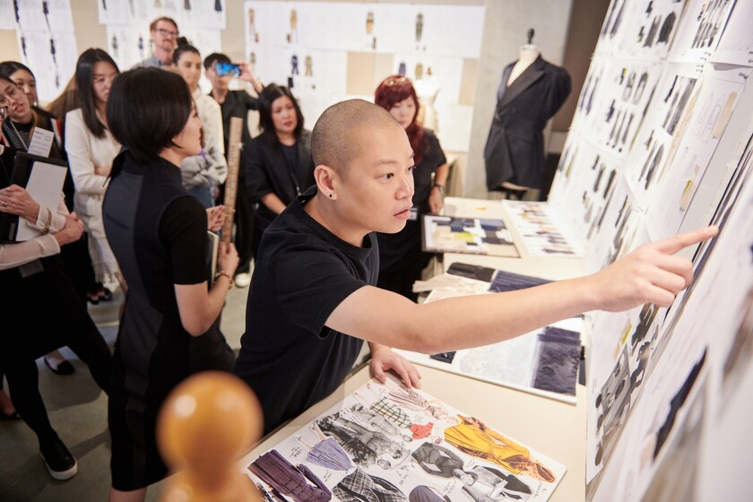 Designer Jason Wu mentors students at Otis College of Art and Design in collaboration with the MADWO