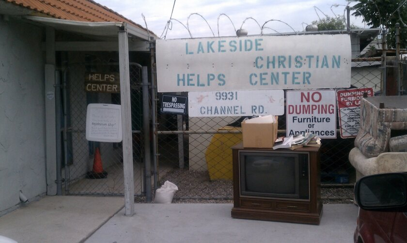The Lakeside Christian Helps Center was broken into sometime Monday night.