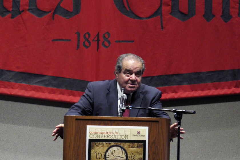 """Justice Antonin Scalia told students at Memphis' Rhodes College earlier this week that he """"wouldn't be surprised"""" if the Supreme Court ruled the death penalty unconstitutional."""