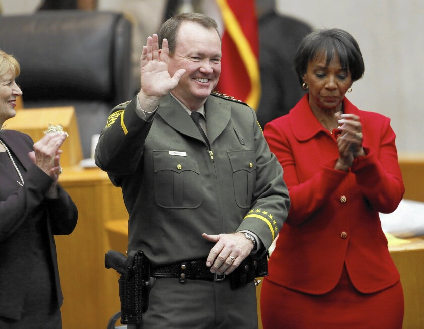 Jim McDonnell is sworn in as the new Los Angeles County sheriff. McDonnell has said that he supports a civilian oversight panel for the department.