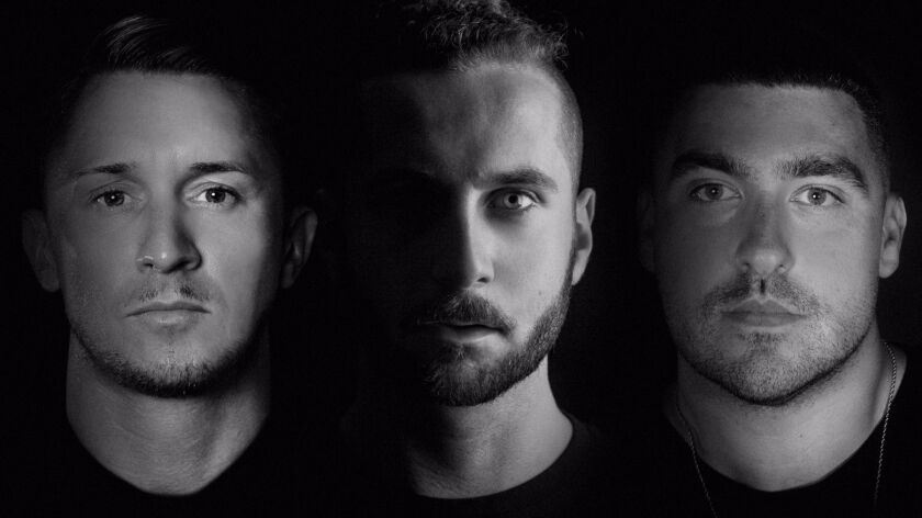 Dave Whelan, left, Alex Kotz (a.k.a. Elderbrook) and Mike Di Scala of Camelphat & Elderbrook.