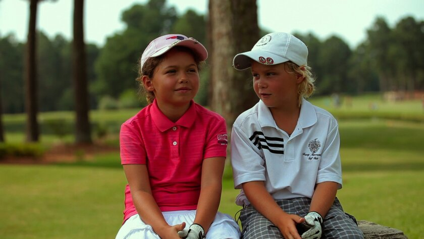 """Golf friends Alexa Plano and Allan Kournikova are among the juniors featured in the documentary, """"The Short Game."""""""