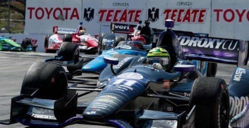 IndyCars racing in Long Beach – April 2013