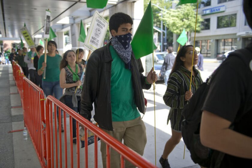 Protesters rally outside UC Regents meeting