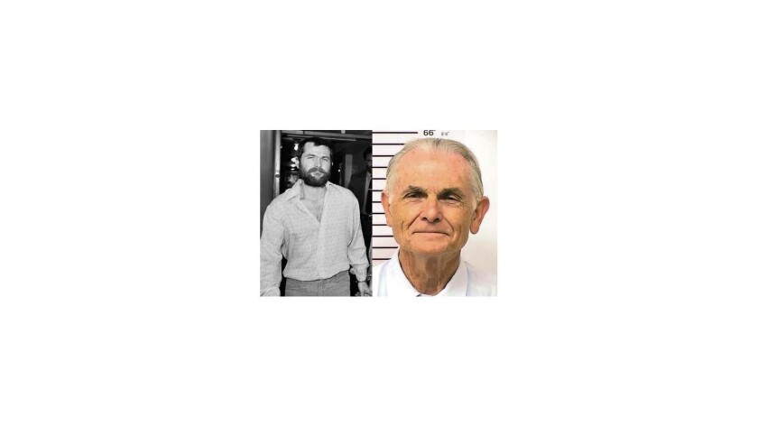 Bruce Davis, left, in December 1970, and right in 2013. Davis completed a doctorate in religious studies while incarcerated, is active in peer counseling and has a near-spotless prison record. His last disciplinary write-up was in 1980.