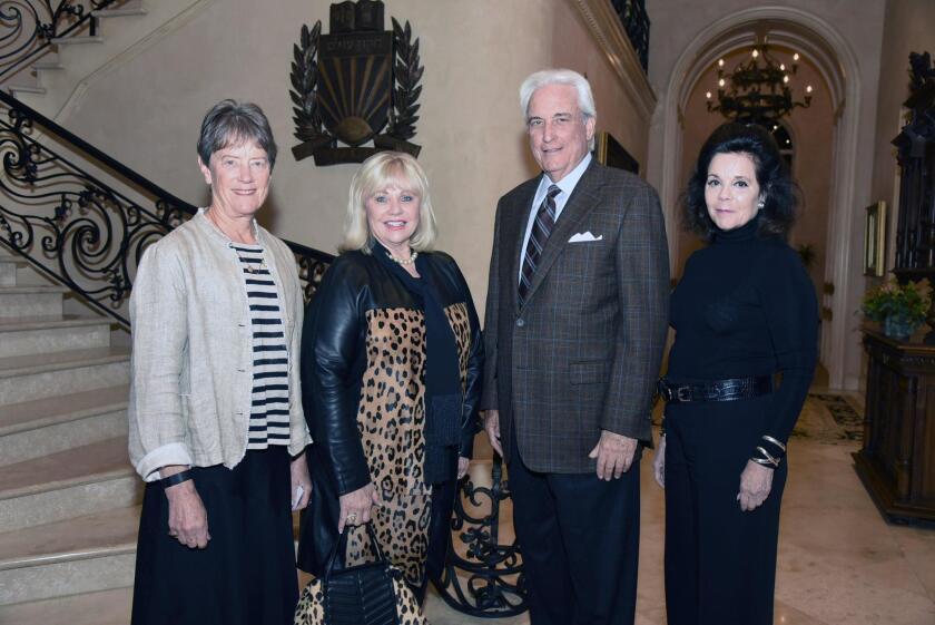 Eileen Mason. Jeanne Larson, San Diego Symphony board chair Dr. Warren Kessler, Elizabeth Taft