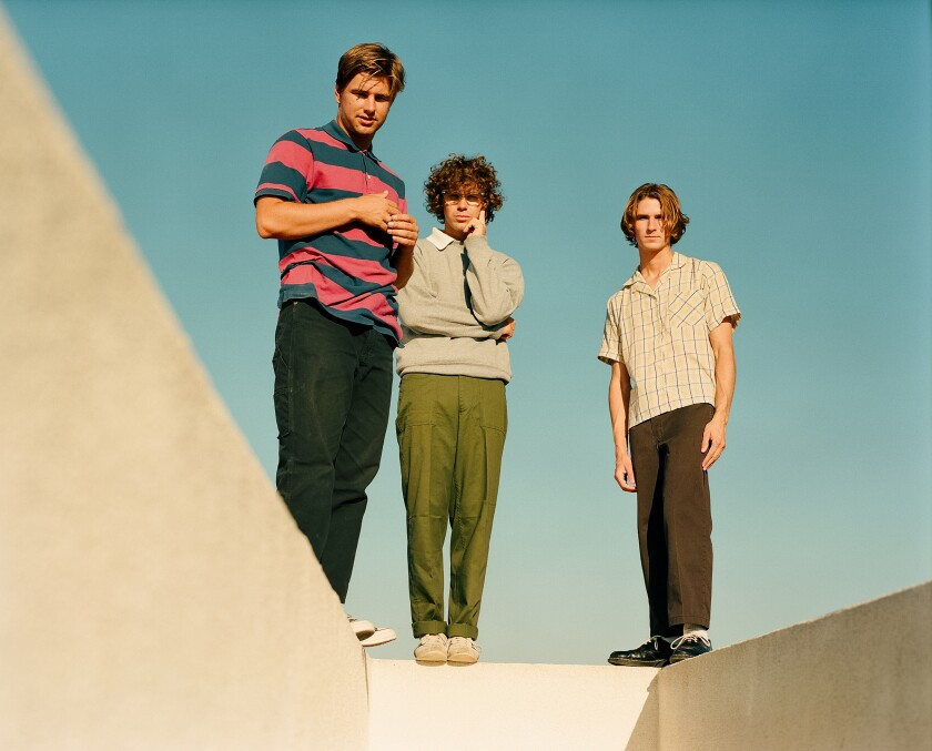 Luke Fabry, left, Dawson Daugherty and Cole Clisby of alt-pop trio almost monday