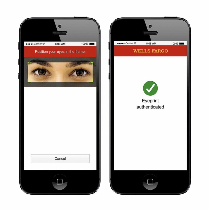 Cutting Edge: Wells Fargo looks to eye-scan security - Los