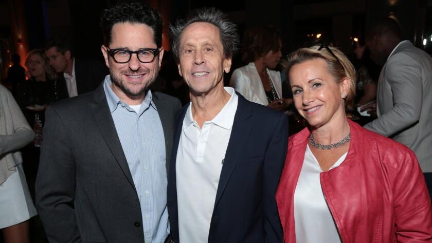 J.J. Abrams, Brian Grazer and Gabrielle Carteris at the Ghetto Film School's benefit.