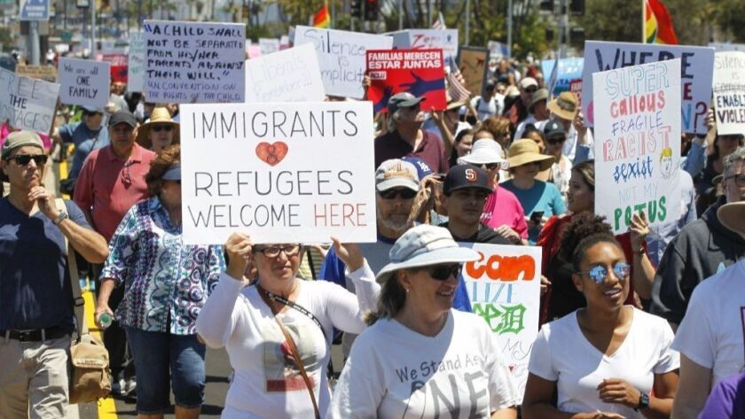 For second weekend, Trump's immigration policies at center