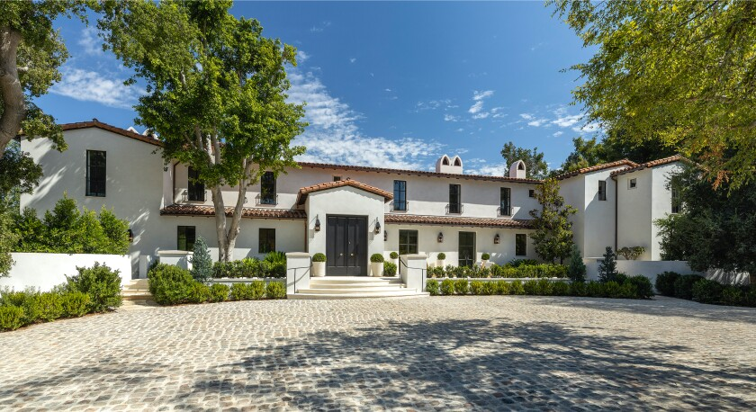 The Spanish Colonial Revival-style mansion was designed by Paul R. Williams.