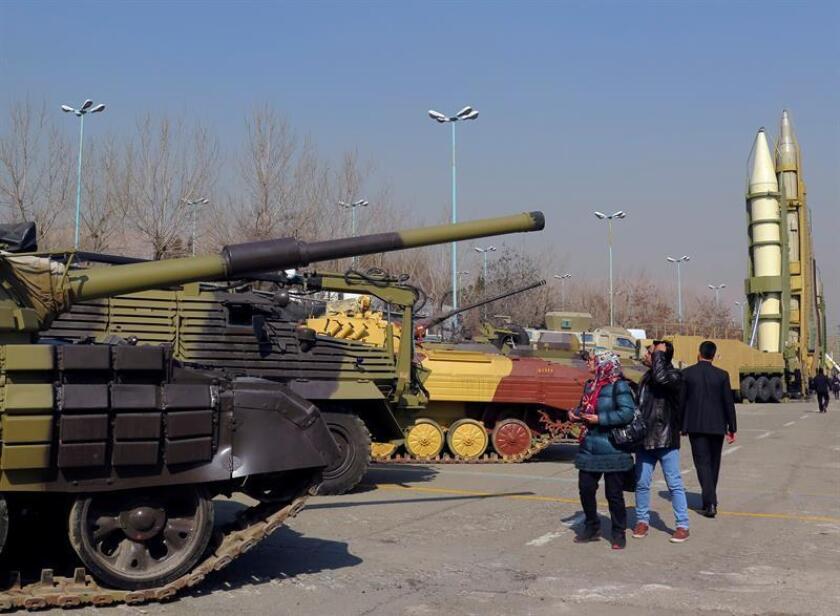 Debido al embargo de armas, Irán ha desarrollado sus capacidades militares localmente, incluidos sus controvertidos misiles, unos logros que ahora expone para celebrar el 40 aniversario del triunfo de la Revolución Islámica de 1979. EFE/Archivo