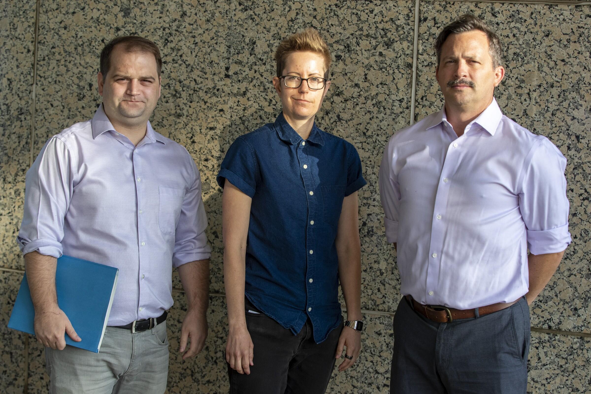 Andrew Carslaw, Sheri Wheeler, Michael Peck