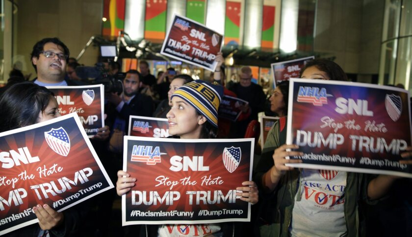 As protests grow, 'SNL' looks unlikely to dump Donald Trump as host
