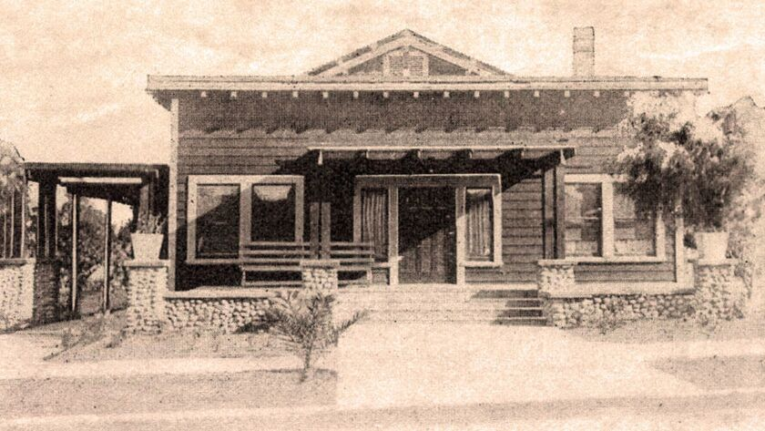 Hornblend Hall in its early days. It was built in 1911 on the site of a former lemon grove.