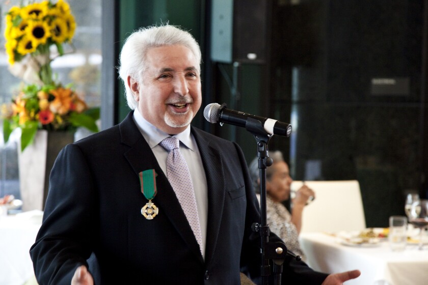 """At ceremony on June 8, chef Celestino Drago was honored with the title """"Cavaliere"""" by the Italian government."""
