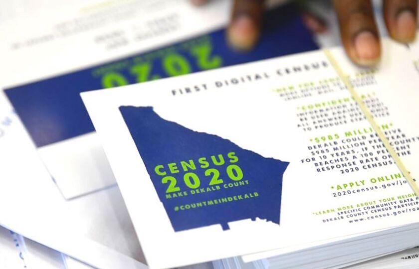 Folletos relacionados con el censo 2020 de Estados Unidos.