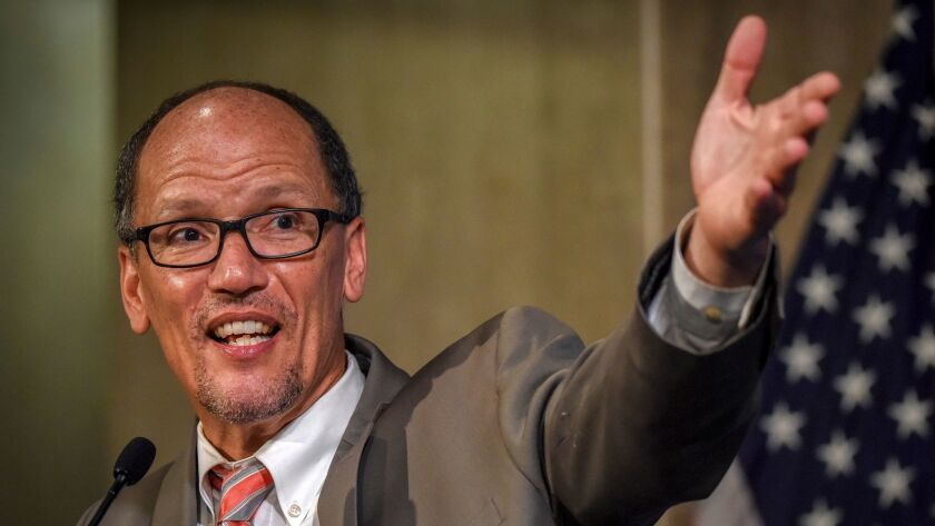 Democratic National Committee Chairman Tom Perez says the party will improve the nominating process before the 2020 presidential election.