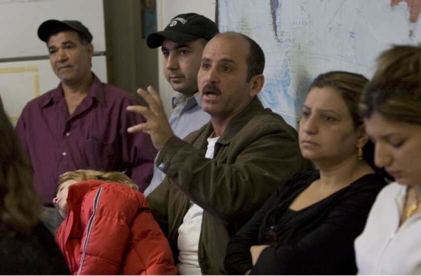 Kameel Maqo, a former taxi driver from Iraq, asked a question  during a class at License to Freedom, a nonprofit program  devoted to preventing domestic violence among recent immigrants.  The program is focused on Iraqi immigrants, and classes are  taught in Arabic.