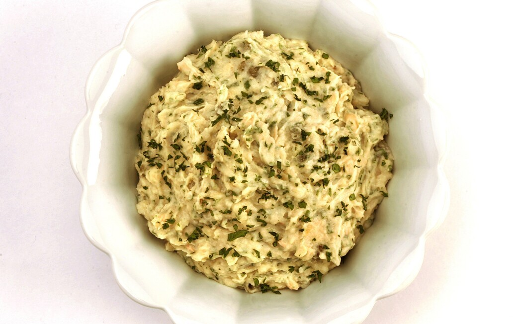 White bean, anchovy and caper spread