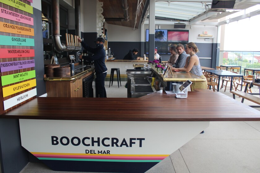 Boochcraft is open on the Brewer's Deck of Del Mar Highlands Town Center Sky Deck.