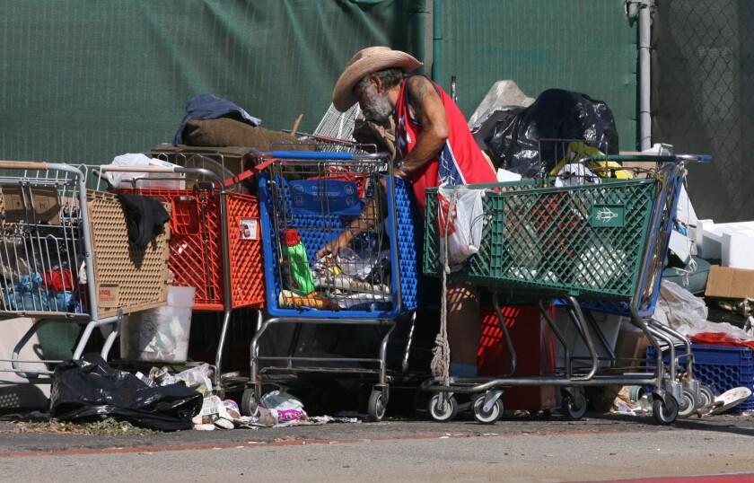 A homeless man in Costa Mesa.